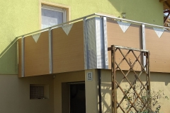 Balkon Holzfassade