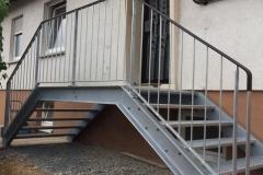Treppe-Geländer-Handlauf